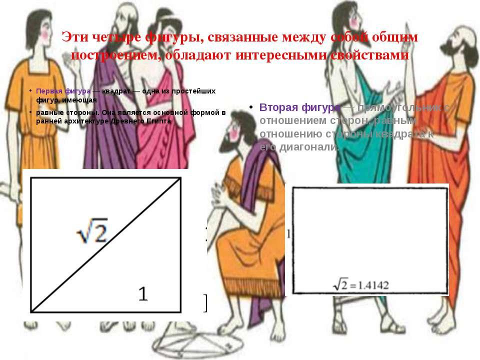Третья фигура – прямоугольник с длинами сторон а и √3∙a Четвёртая фигура пред...